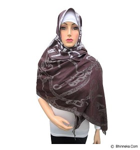 VSTAR Pashmina Carriage Motif  - Dark Red  (V)
