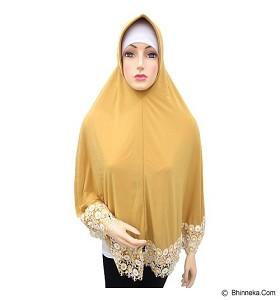 VSTAR Hijab Bergo Floral Lace - Yellow (V)