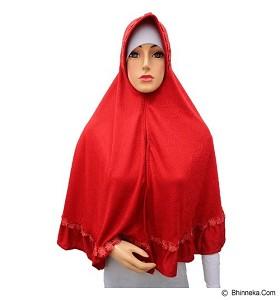 VSTAR Hijab Bergo Uhmar Embos Lace - Red (V)