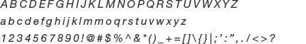 Helvetica Neue LT Std - 56 Italic
